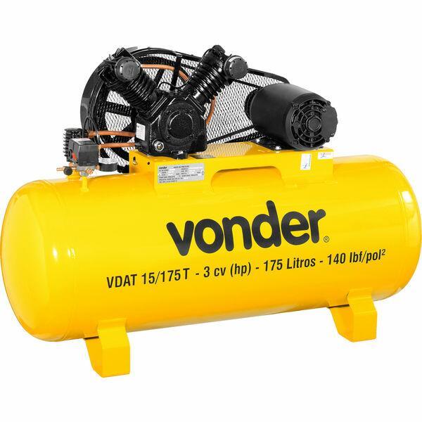 Compressor de ar VDAT 15/175T, trifásico, 220 V~/380 V~, VON