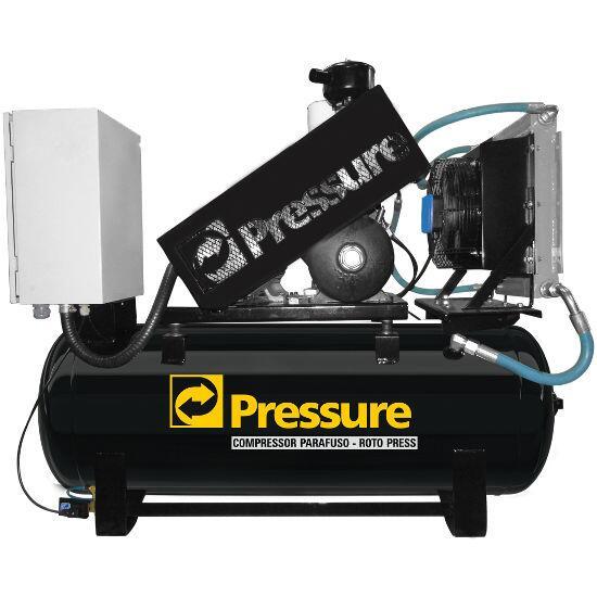 Compressor Parafuso 15HP 200 Litros Pressure Roto Press RP15/200 - 220V Trifásica