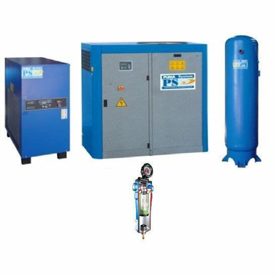 Compressor Parafuso Trifásico com Reservatório CGA-50 Puma - 50 HP 425 Litros + Secador + Filtro 220 Volts / 380 Volts