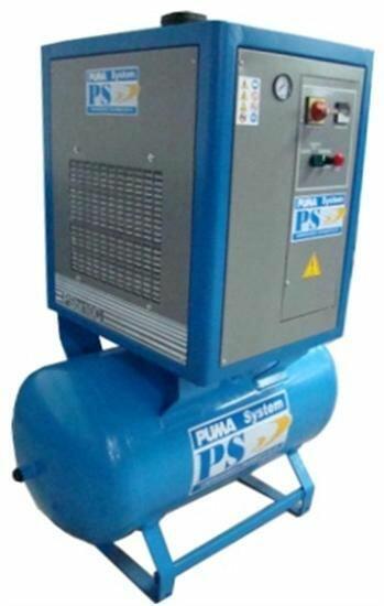 Compressor Parafuso Trifásico com Reservatório PSBR7,5CA Puma - 7,5 HP 270 Litros 220 Volts / 380 Volts