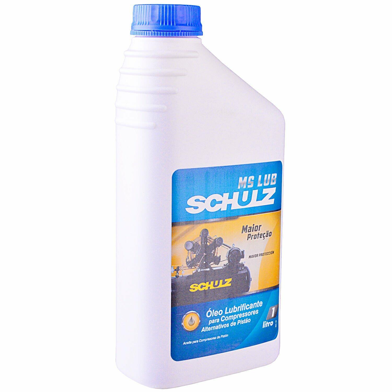 Conjunto C/ 4 Un. Óleo Lub. P/ Compressor de Ar 1L Ms Schulz