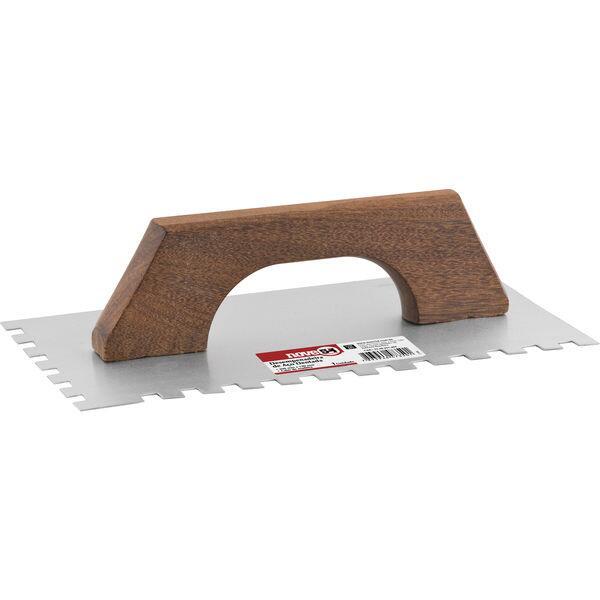 Desempenadeira de aço dentada 250 mm x 120 mm NOVE54