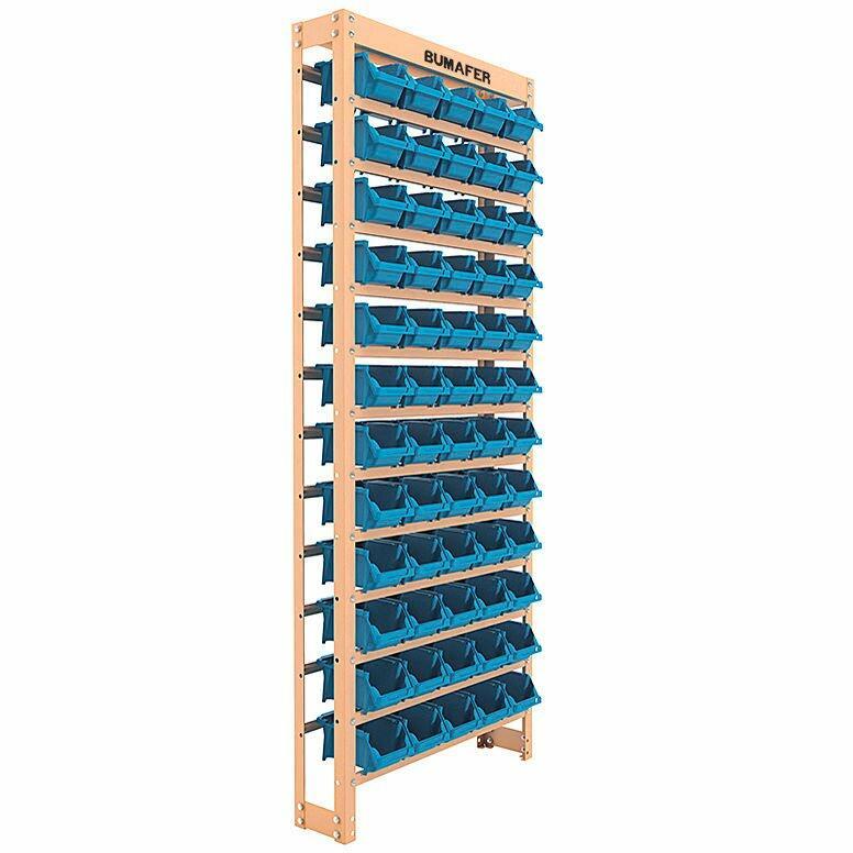 Estante Gaveteiro Com 60 Gavetas Nº 3 Cor Azul 27410 Bumafer