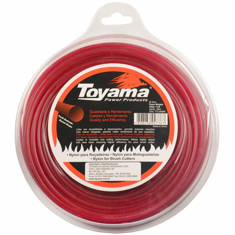 Fio de Nylon para Roçadeiras 3,0 MM X 56 Metros Toyama