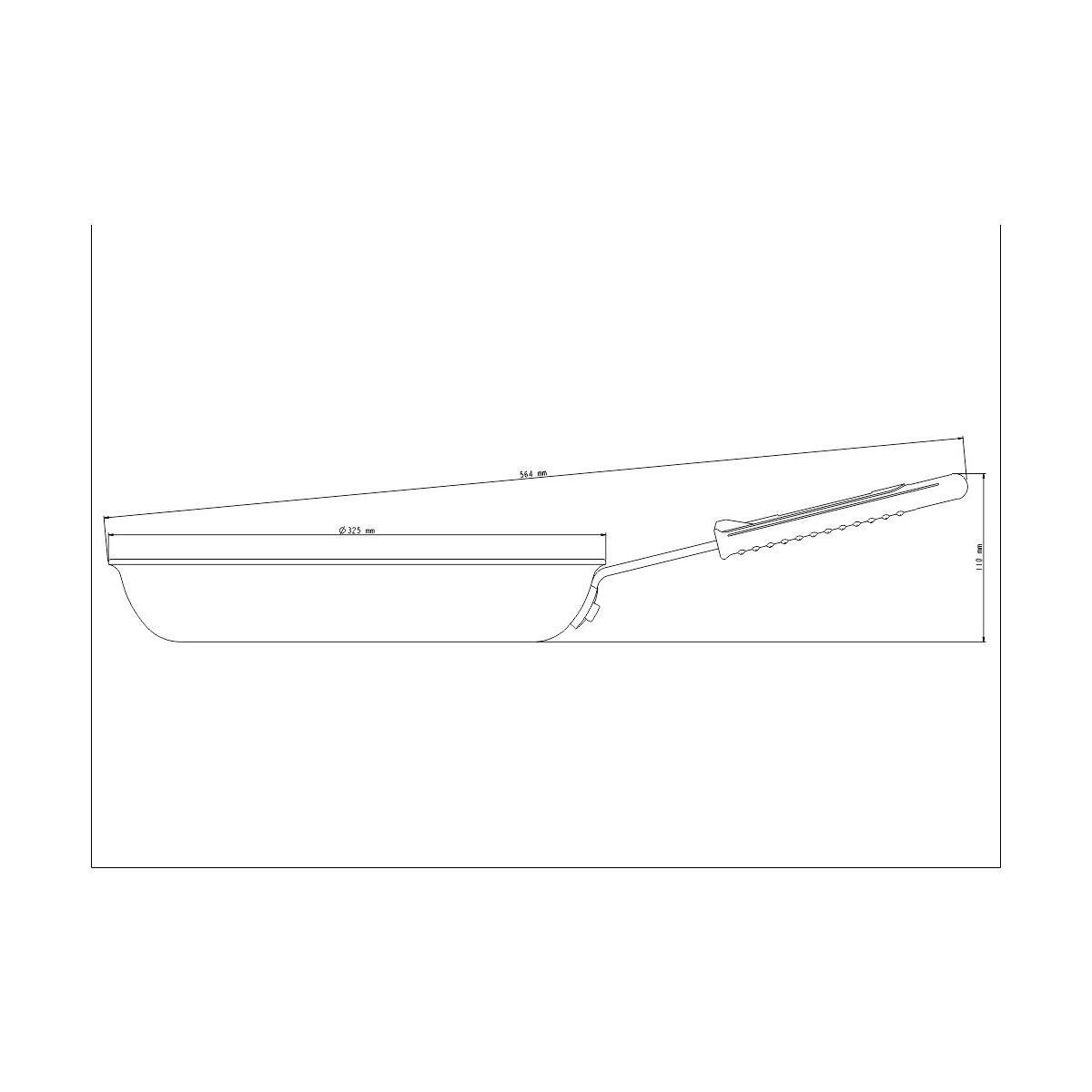 Frigideira Tramontina Profissional em Alumínio Acabamento Externo Lixado com Revestimento Interno Antiaderente Starflon T3 Cabo Aço Inox e Silicone 30 cm 3,1 L Tramontina 20890030