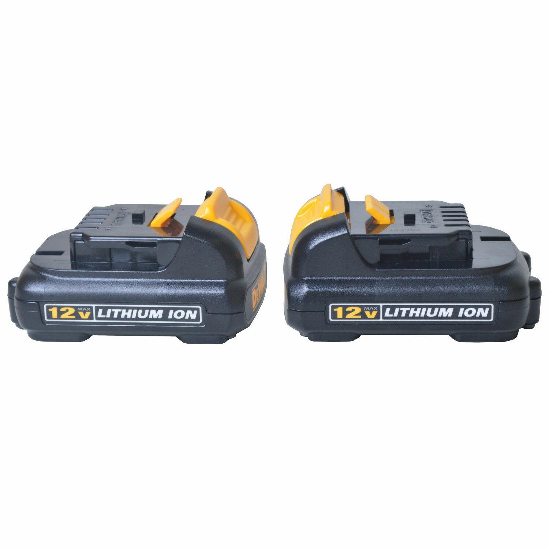 Furadeira e Parafusadeira a Bateria 12V Dck201c2 Dewalt - 220V