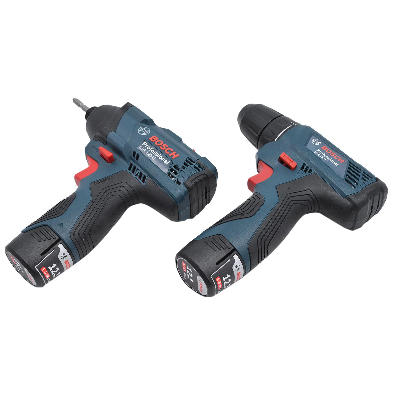Furadeira GSR120-LI + Chave Impacto GDR120-LI Bivolt -  Bosch