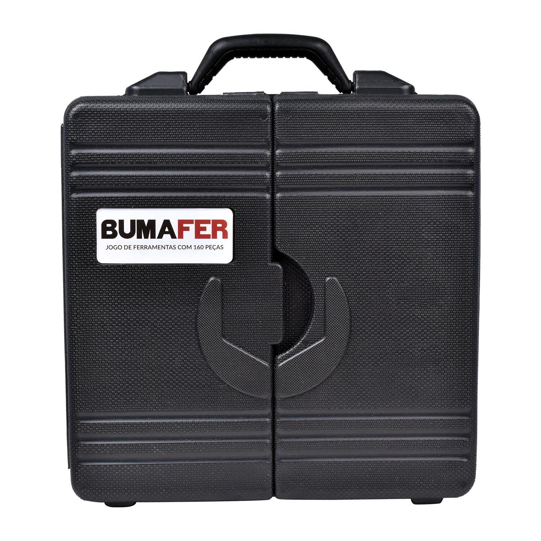 """Furadeira/parafusadeira Bateria 3/8"""" Dcd710D2 Dewalt -Bivolt+Jogo de Ferramentas com 160 Peças Bumafer"""