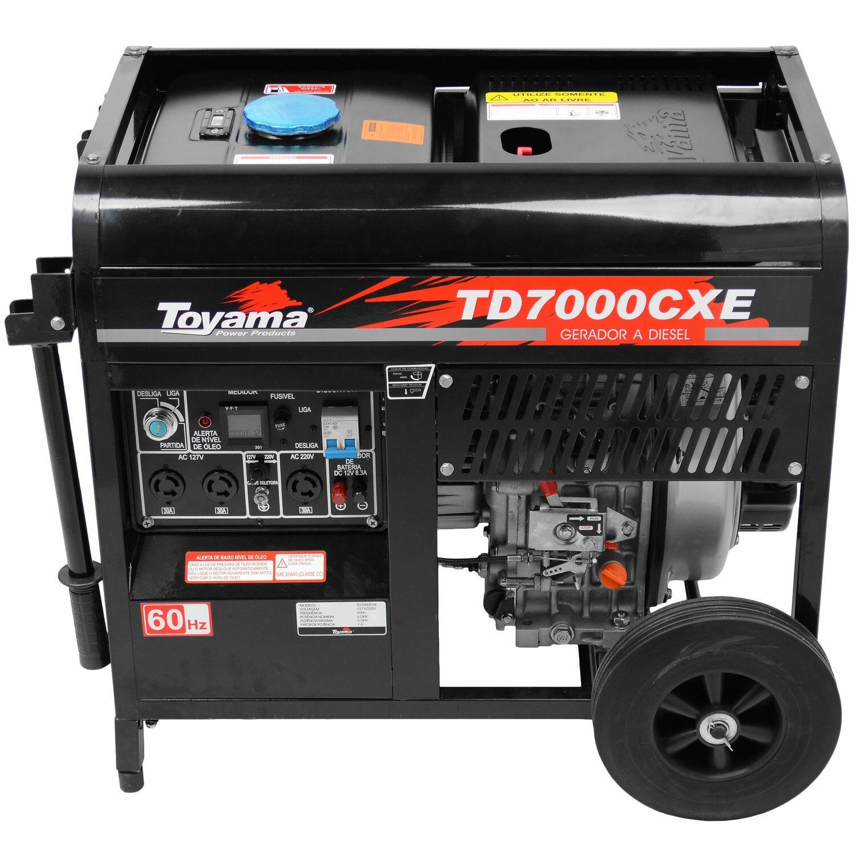 Gerador A Diesel 6000W TD7000CXE Toyama - 127/220V Monofásico