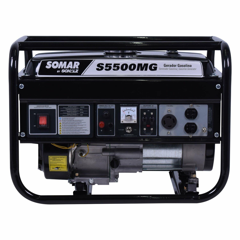 Gerador De Energia 5500W A Gasolina S5500MG Somar