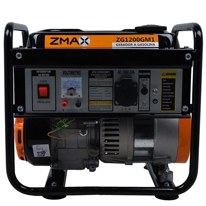 Gerador De Energia a Gasolina 0,9kVA ZG1200GM1 Zmax - 110V