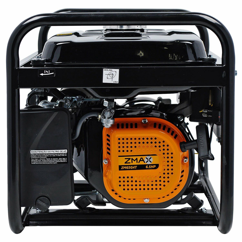 Gerador De Energia a Gasolina 2,5kVA ZG2800GM Zmax-Bivolt