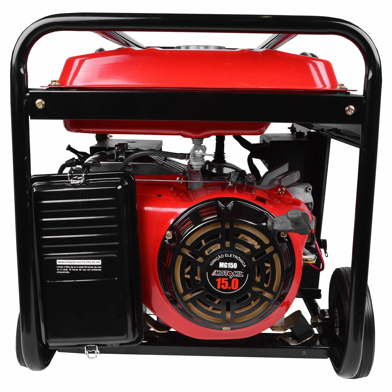 Gerador De Energia a Gasolina 8000W MG8000CLE Motomil - Saída 110/220V
