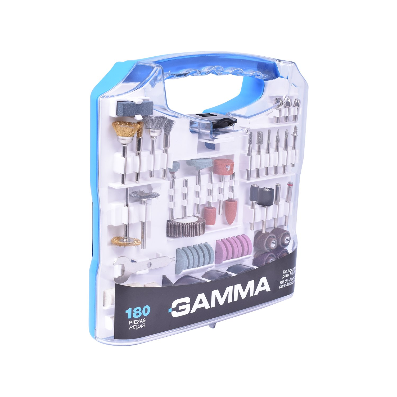 Kit de Microrretífica com 180 Peças G19507AC  Gamma