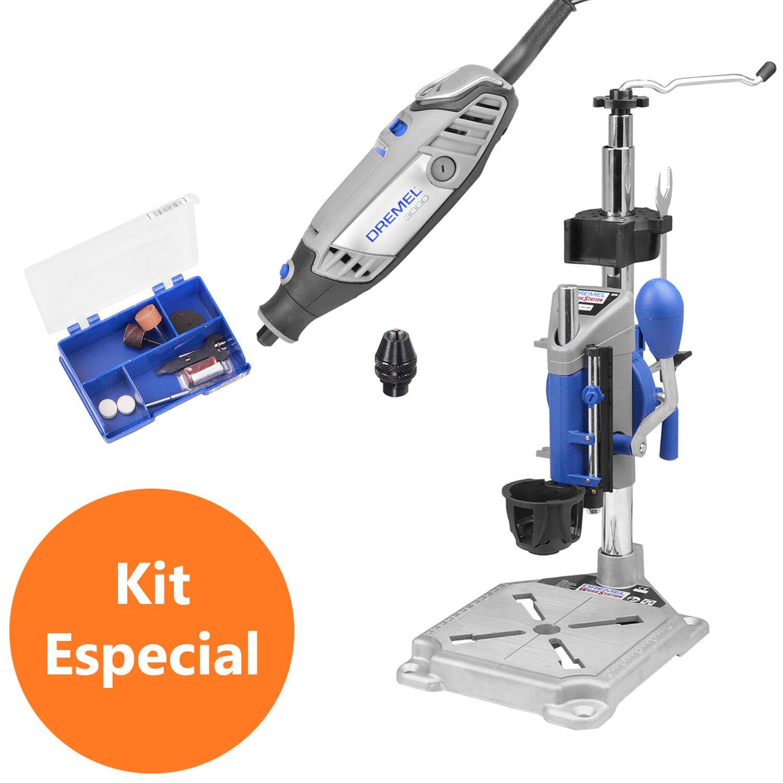 Micro Retífica Dremel 3000+Suporte+Mandril e Acessórios-127V