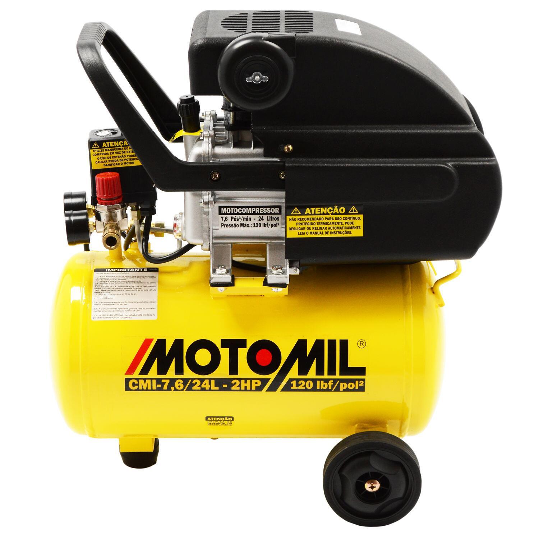 Motocompressor 7,6 Pés 24L CMI-7,6/24L Motomil - 127V
