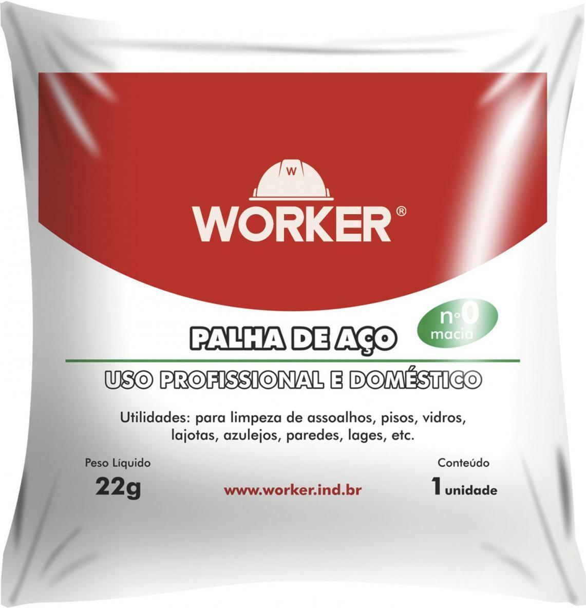 Palha de Aço Número 0 Fina 22G Worker