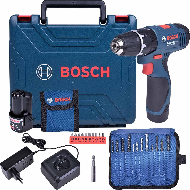 Parafusadeira/furadeira Impacto Gsb120-Li + 2 Baterias Bosch