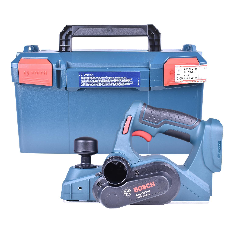 """Plaina Gho18V-Li + Chave de Impacto 1/4"""" e 1/2"""" GDX180-LI + Carregador com 2 Baterias 18V + Bolsa Ferramentas Bosch"""