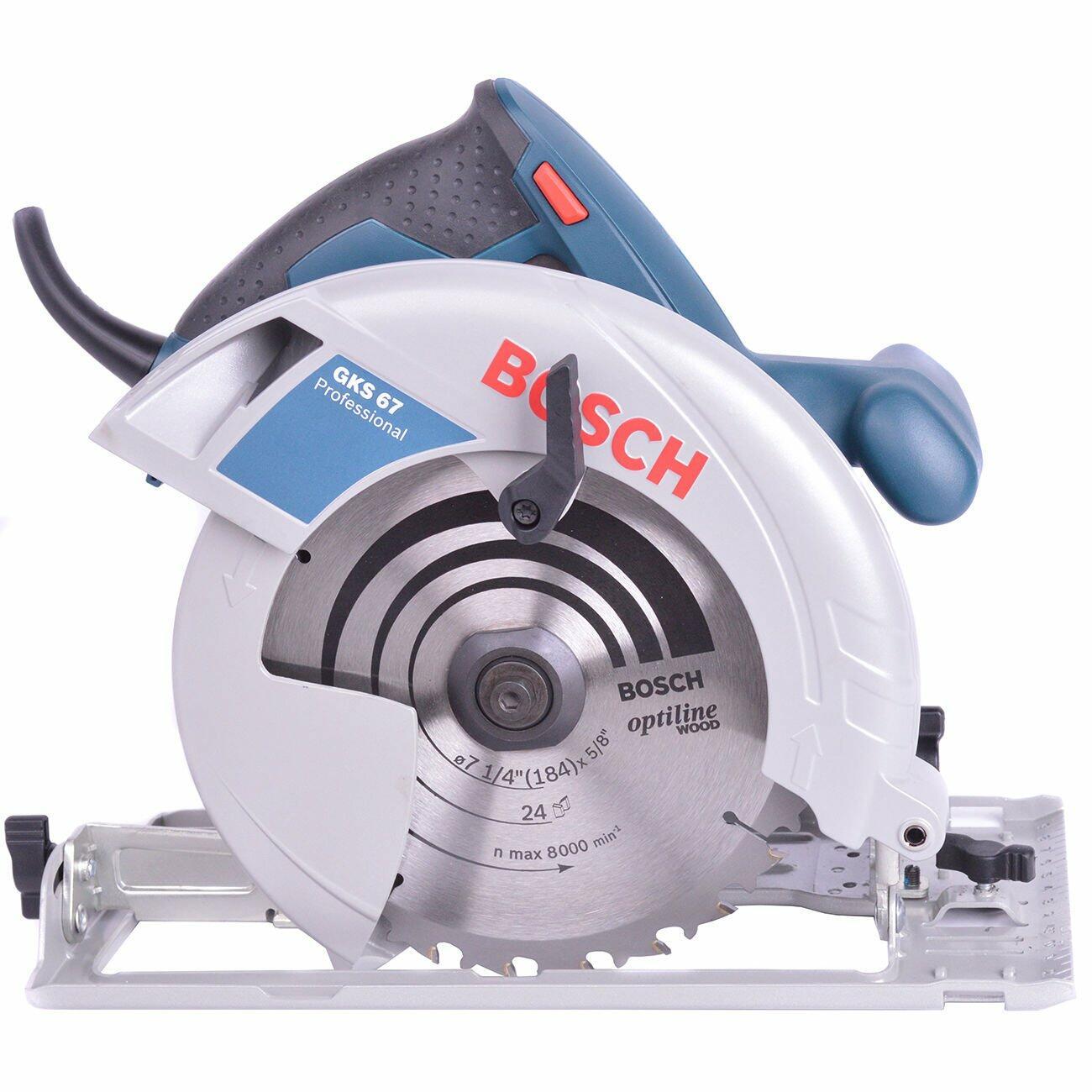 "Serra Circular 7.1/4"" 1600W GKS 67 Bosch - 220V"