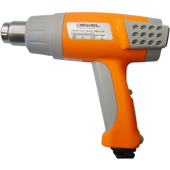 Soprador Térmico DK1210 Dekel - Digital 50º a 630ºC 2000 Watts 127 Volts