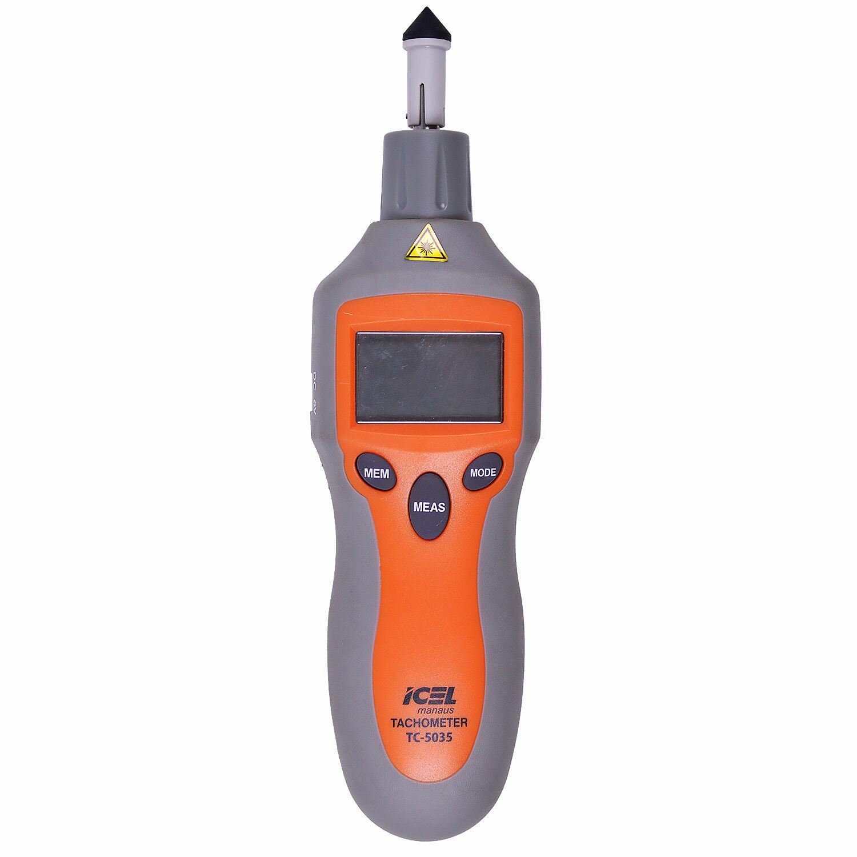 Tacômetro Ótico e Contato 2 a 99.999 RPM Tc5035 Icel